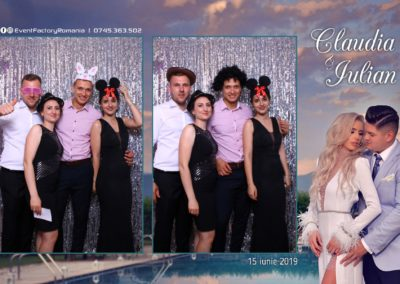 Cabina Foto Showtime - Magic Mirror - Nunta - Claudia & Iulian - Restaurant Paradis Ramnicu Valcea - Event Factory (110)
