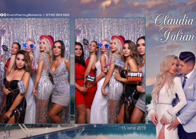 Cabina Foto Showtime - Magic Mirror - Nunta - Claudia & Iulian - Restaurant Paradis Ramnicu Valcea - Event Factory (29)