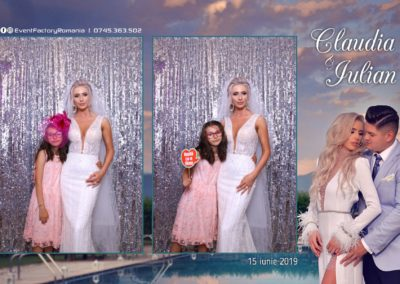 Cabina Foto Showtime - Magic Mirror - Nunta - Claudia & Iulian - Restaurant Paradis Ramnicu Valcea - Event Factory (34)