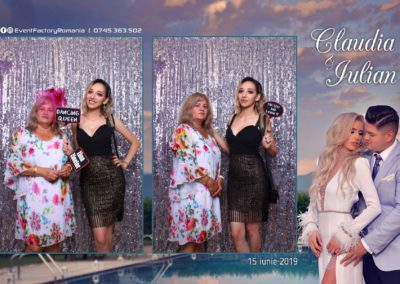 Cabina Foto Showtime - Magic Mirror - Nunta - Claudia & Iulian - Restaurant Paradis Ramnicu Valcea - Event Factory (40)