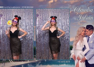 Cabina Foto Showtime - Magic Mirror - Nunta - Claudia & Iulian - Restaurant Paradis Ramnicu Valcea - Event Factory (43)