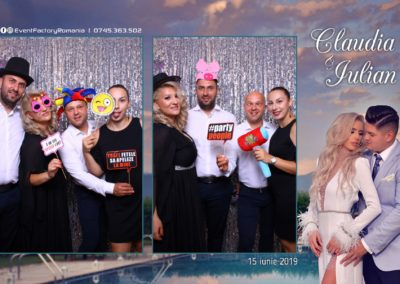 Cabina Foto Showtime - Magic Mirror - Nunta - Claudia & Iulian - Restaurant Paradis Ramnicu Valcea - Event Factory (5)
