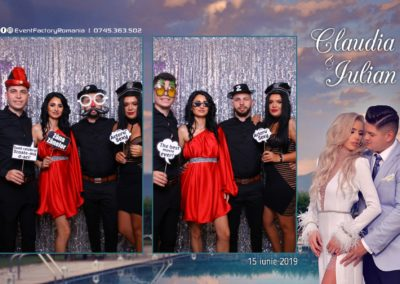 Cabina Foto Showtime - Magic Mirror - Nunta - Claudia & Iulian - Restaurant Paradis Ramnicu Valcea - Event Factory (60)