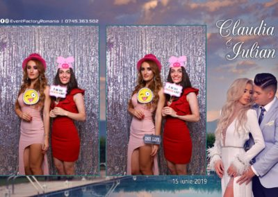 Cabina Foto Showtime - Magic Mirror - Nunta - Claudia & Iulian - Restaurant Paradis Ramnicu Valcea - Event Factory (82)